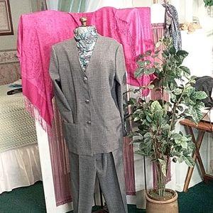 Alfred Dunner pantsuit jacket 16 pants 14